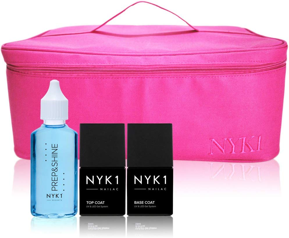 NYK1 Bag and Nail Base and Top Coat in Gift Kit Set