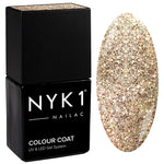 NYK1 Gold Glitter Sparkle Gel Polish Be Dazzled