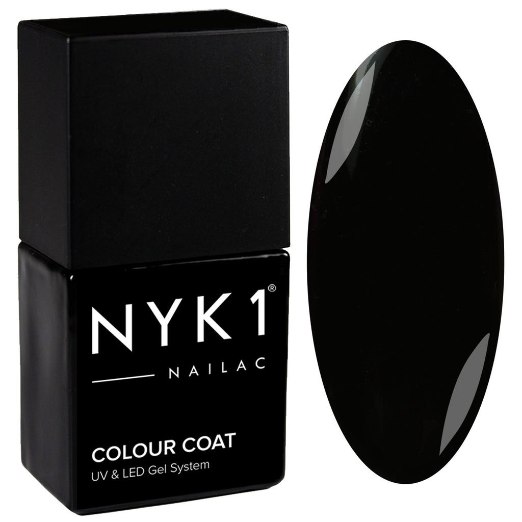 NYK1 Gloss Black Gel Nail Polish