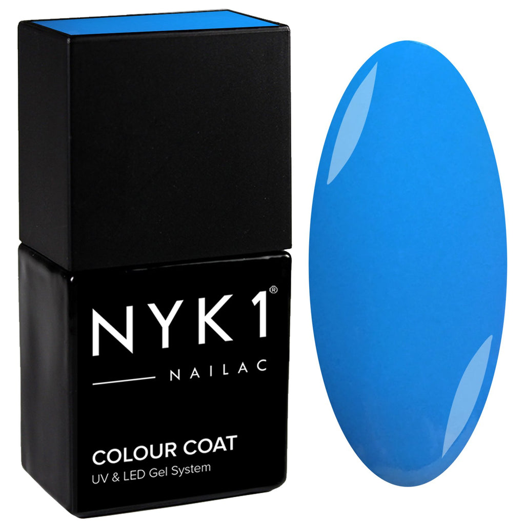 NYK1 Blue Gloss Soak off Gel Nail Polish