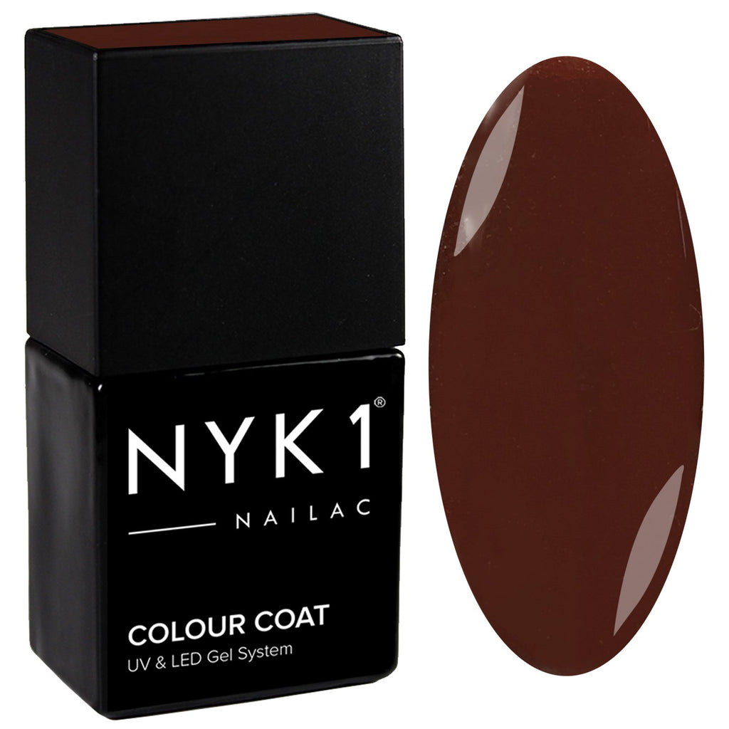 NYK1 Smooth Brown Chocolate Gloss Gel Nail Polish