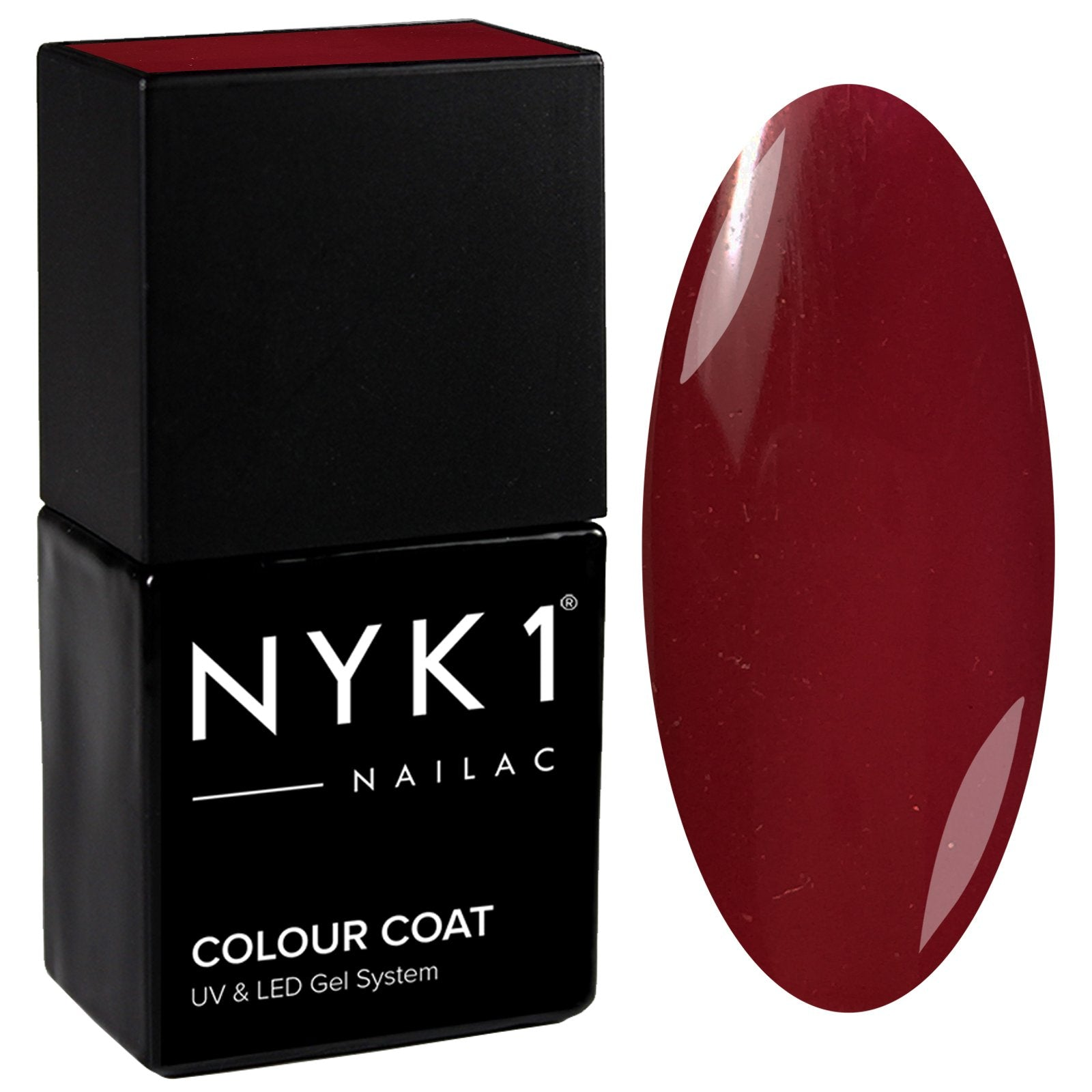 NYK1 Nailac Damson Crush Burgundy Red Gel Nail Polish