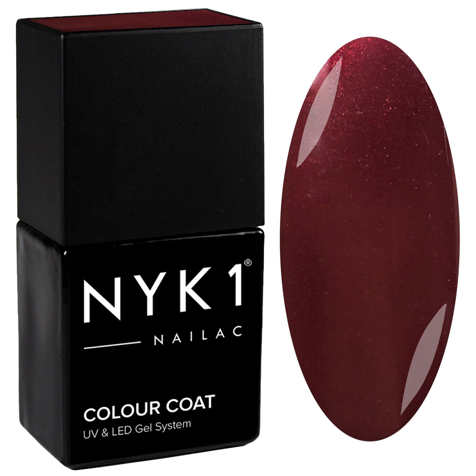 NYK1 Nailac Deep Dark Red Gel Nail Polish