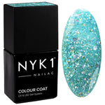 NYK1 Diamond Azure Aqua Blue Nail Polish