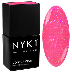 NYK1 Diamond Barbie Pink Glitter Sparkle Gel Nail Polish