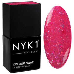 NYK1 Diamond Candy Pink Glitter Sparkle Gel Nail Polish