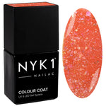 NYK1 Nailac Diamond Coral Peach Orange Sparkle Glitter Gel Nail Polish