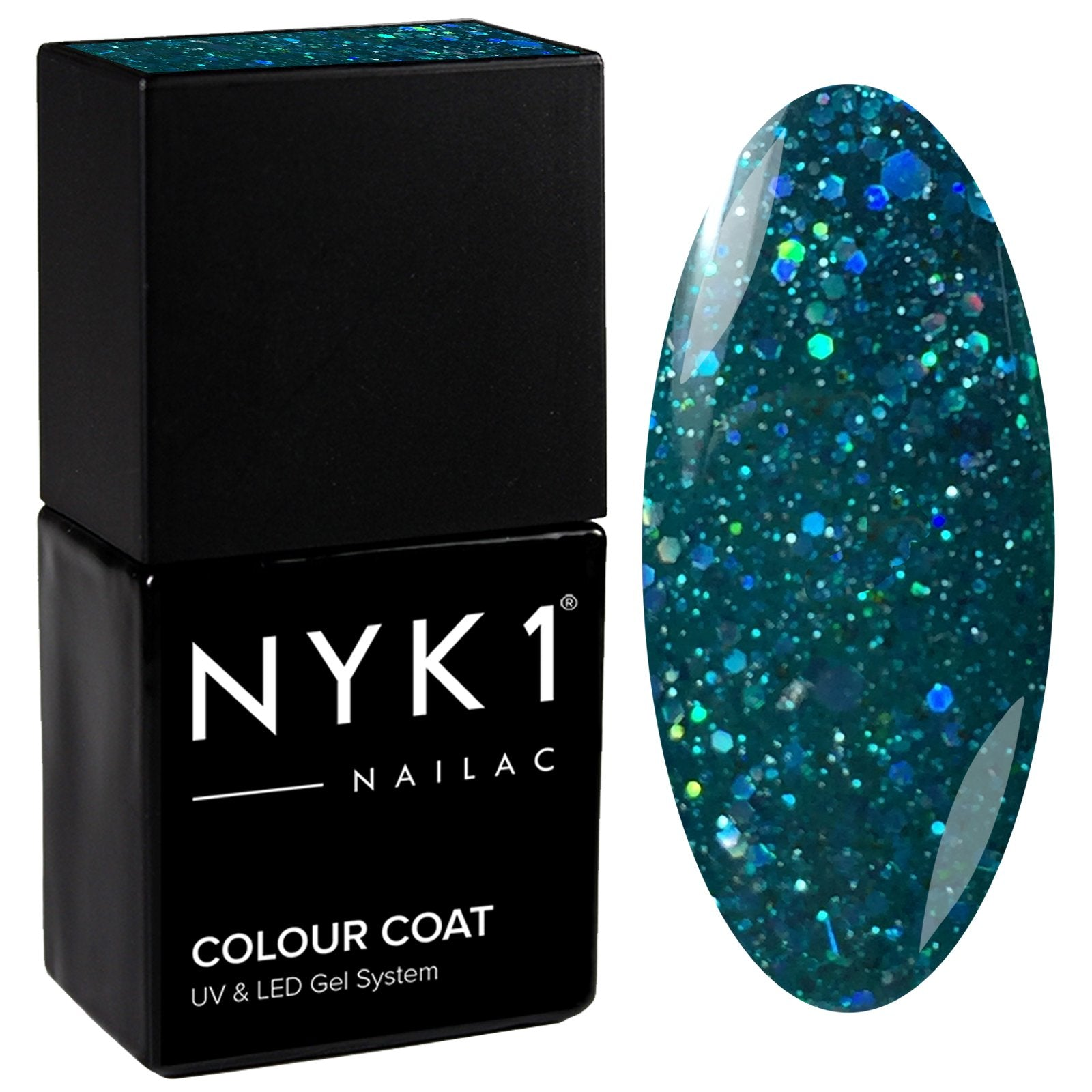 NYK1 Diamond Emerald Green Gel Nail Polish