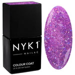 NYK1 Diamond Lilac Purple Glitter Sparkle Gel Nail Polish