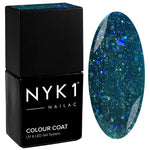 NYK1 Diamond Midnight Blue Glitter Sparkle Gel Nail Polish