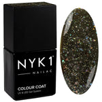 NYK1 Diamond Quartz Black Sparkle Glitter Gel Nail Polish