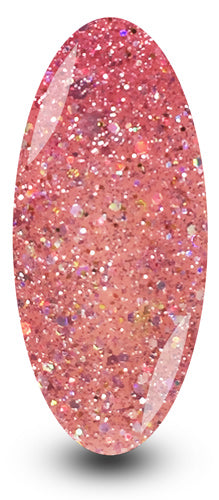 Nailac Diamond Wedding Day Pink Sparkle Glitter Gel Nail Polish
