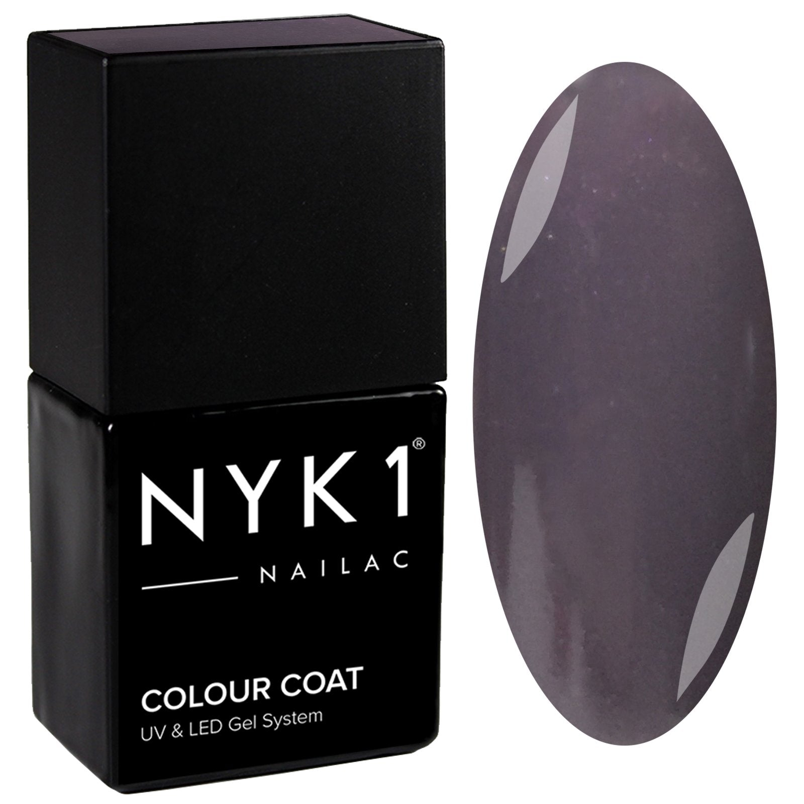 NYK1 Nailac Dolphin Slate Blue Grey Gloss Gel Nail Polish