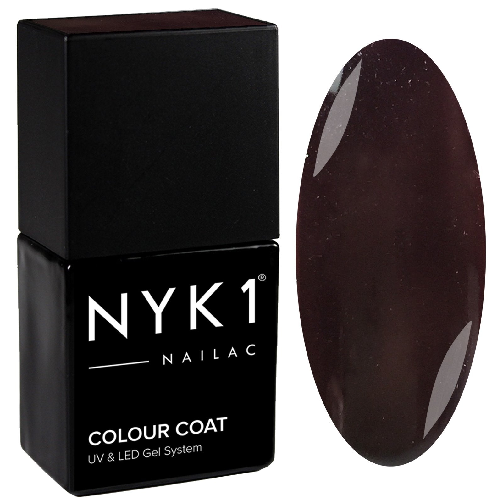 NYK1 Nailac Femme Fatale Dark Brown Gel Nail Polish
