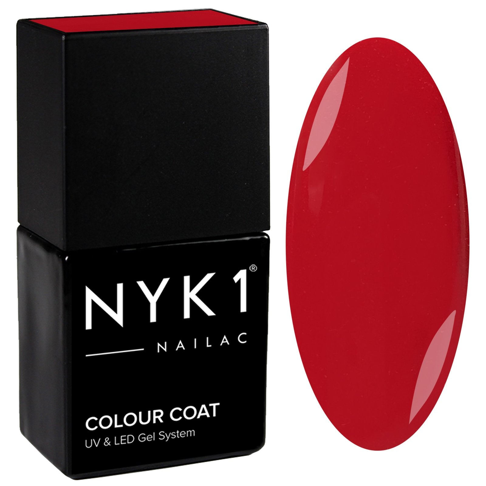 NYK1 Nailac Deep Red Carpet Dark Gel Nail Polish
