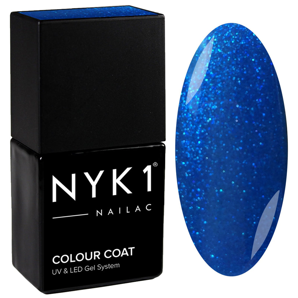 NYK1 Blue Glitter Sparkle Nail Gel Polish