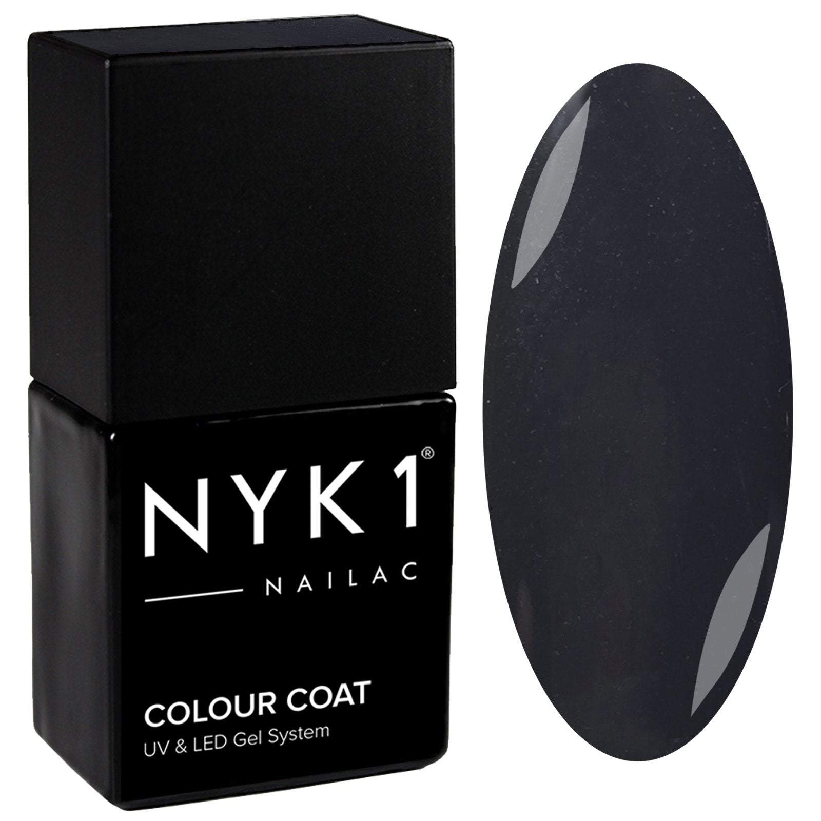 NYK1 Nailac Lead Dark Grey Gel Nail Polish