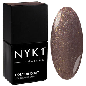 NYK1 Nailac Mink Shimmer Brown Glitter Gel Nail Polish