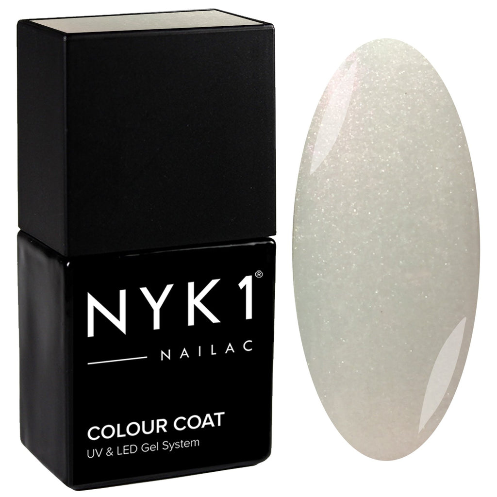 NYK1 Nailac Moonshine Unicorn White Gel Nail Polish