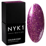 NYK1 Nailac Purple Party Girl Glitter Sparkle Gel Nail Polish