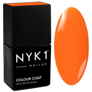 NYK1 Nailac Passion Fruit Bright Orange Gel Nail Polish