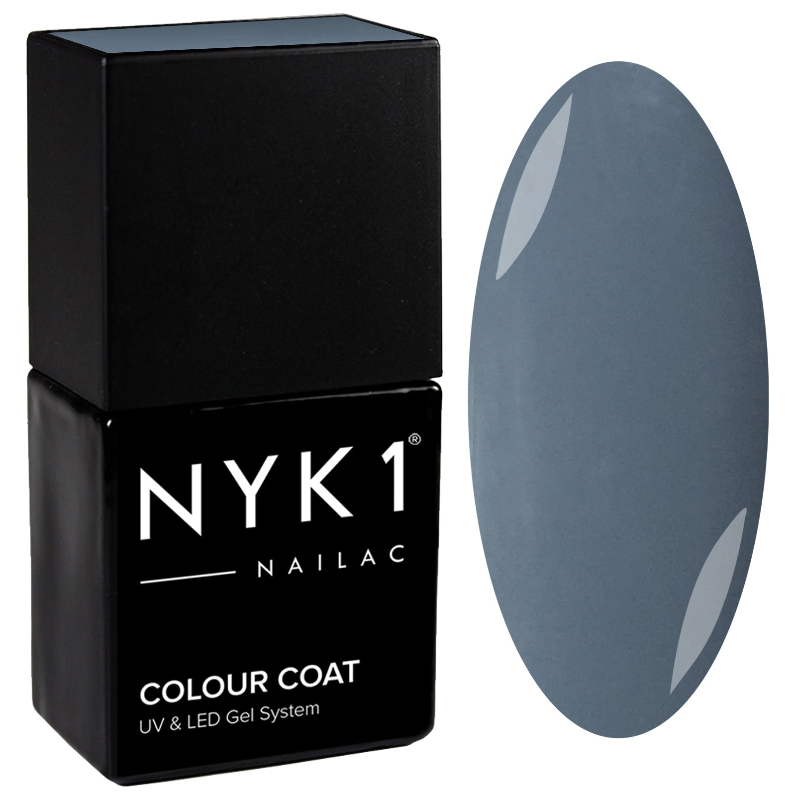 NYK1 Nailac Pebble Grey Blue Stone Gel Nail Polish