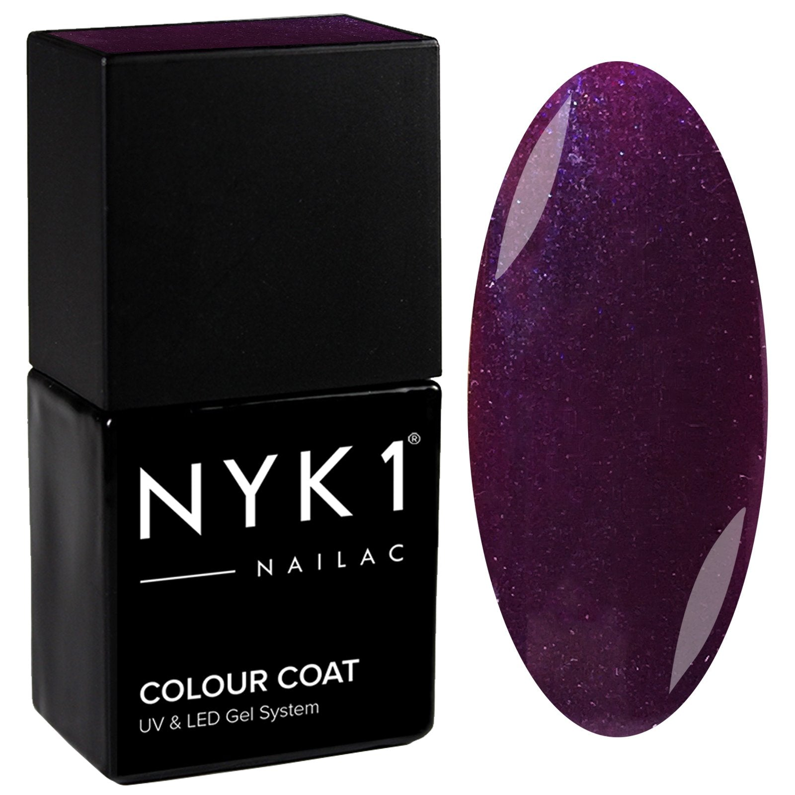 NYK1 Nailac Purple Rock Gel Nail Polish