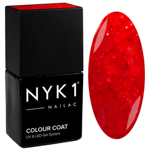 NYK1 Nailac Ruby Red Gel Nail Polish