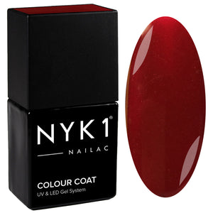 NYK1 Nailac Smooth Mahogany Red Brown Gel Polish