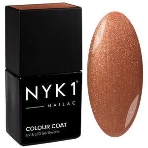 NYK1 Nailac Sugared Caramel Bronze Gold Sparkle Glitter Nail Polish