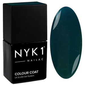 NYK1 Nailac Teal Green Gel Nail Polish.