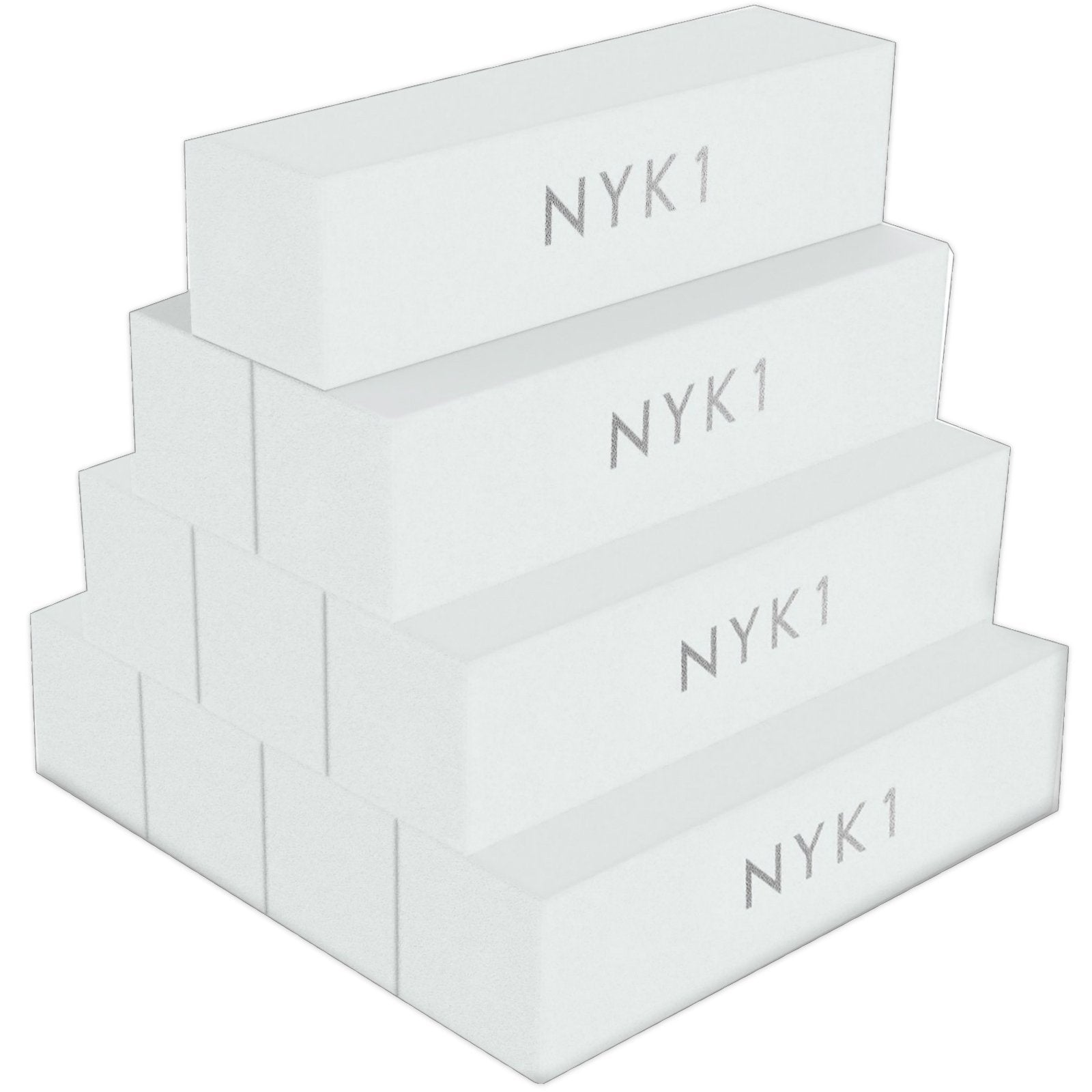 NYK1 White Acrylic Nail Buffer Buffing Sanding Block Files Salon Professional 10 Pack