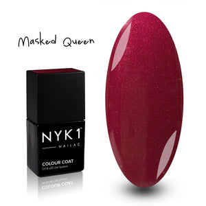 Nailac Masked Queen Burgundy Red Glitter Gel Polish for Nails