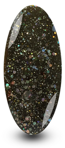 Nailac Black Glitter Gel Nail Polish