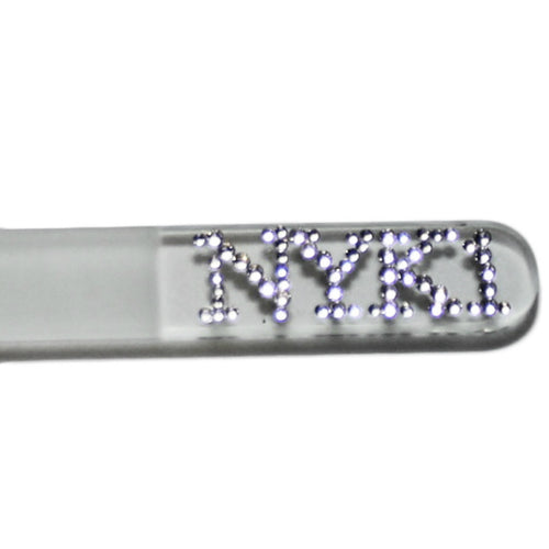 NYK1 Best Swarovski Crystal Glass Nail File with Carry Case - Excellent Gift