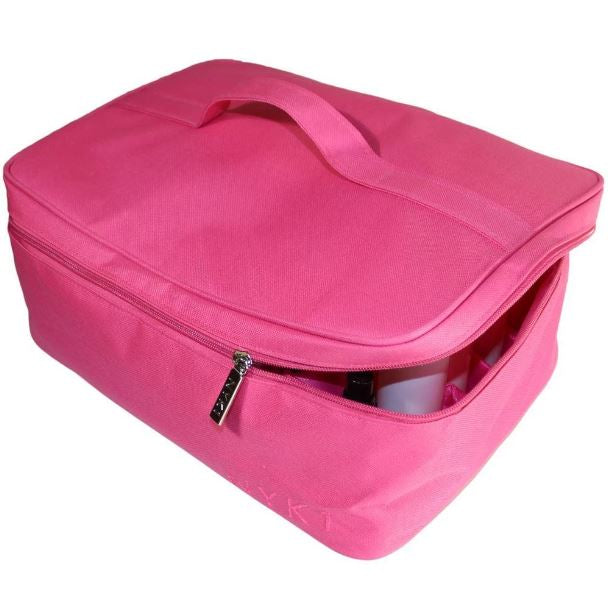 NYK1 Make Up Cosmetic Beauty Bag Vanity Organiser (Black / Pink)