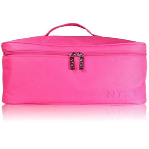 NYK1 Vanity Case Gel Nail Polish and Accessory Carry Bag Pink