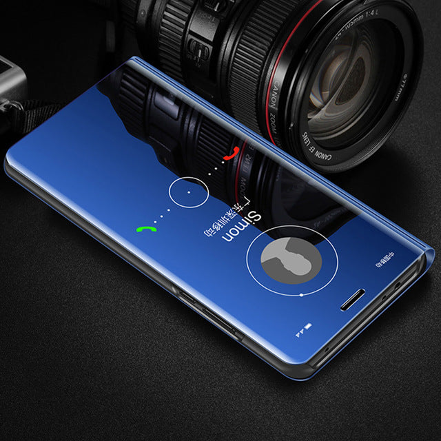 Clear View Mirror Flip Case For Huawei Mate 20 Pro Mate 20 Lite Mate 20