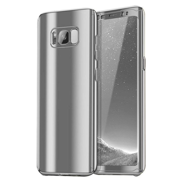 Plating 360 Degree Full Body PC Front+Back Cover Protective Case+Tempered Screen Protector for Samsung Galaxy S8 & S8 Plus