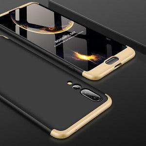 3 in 1 Double Dip 360¡« Degree Full Protection Hard PC Matte Coque Cover With Tempered Glass Film