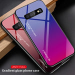 New Arrival Gradient Color Tempered Glass Phone Case for Samsung Galaxy S10 S10 Plus S10e