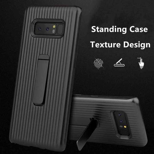 Vertical Protective Folding Bracket Anti-Skid Design Phone Case For Samsung Note8/Note9