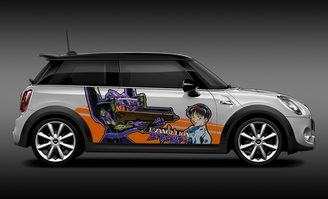 Evangelion Shinji Ikari Itasha Design On Mini Cooper