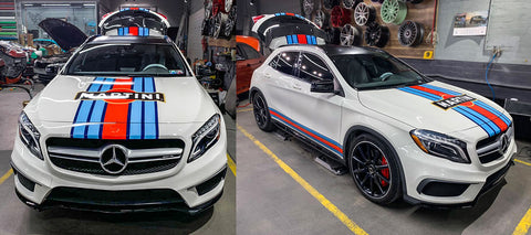 Mercedes with MARTINI Racing Stripes