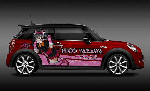 Love Live! Nico Yazawa Itasha Design On Mini Cooper