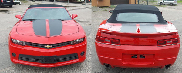 Chevrolet Camaro 2010 - 2015 hood side design decals Decals - autodesign.shop