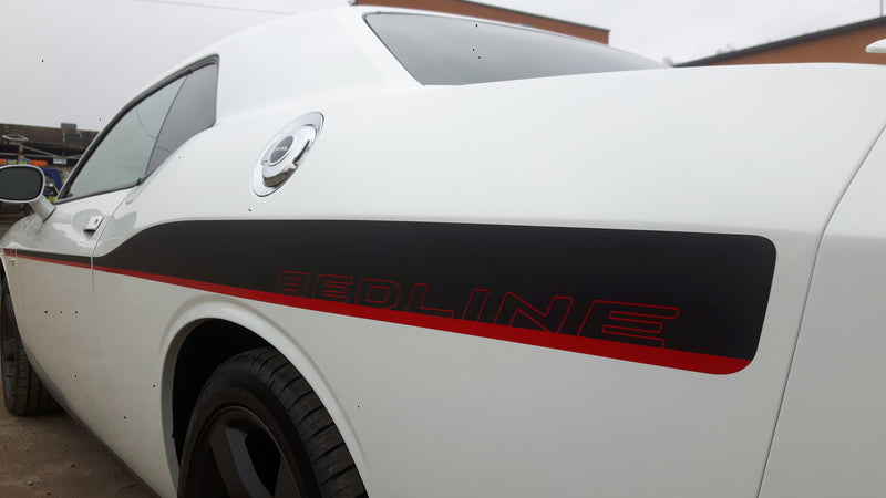 Dodge Challenger 2008-2014 REDLINE Vinyl Decals Stripes Decals - autodesign.shop