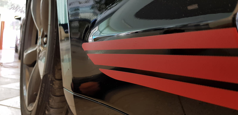 Ford Mustang 2005 2006 2007 2008 2009 2010 California Special GT/CS Rocker Stripes Decals - autodesign.shop