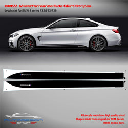 BMW M Performance Set of Side Stripes for M4 F32 / F33 / F36