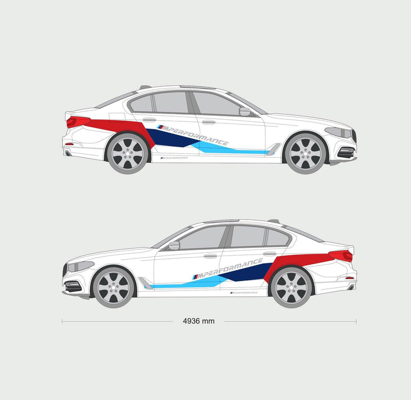 BMW M Performance Motorsport Side Graphics Set for BMW M2 / M4 / M5